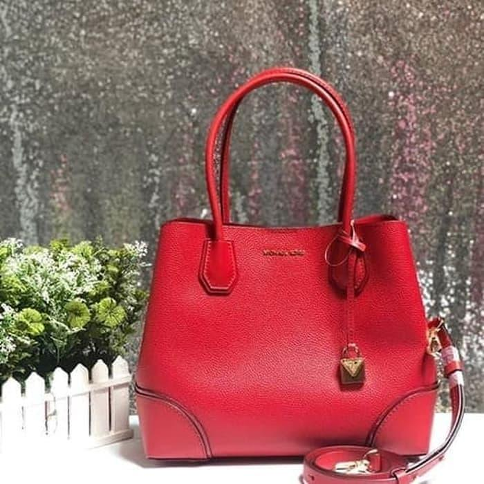Michael Kors Mercer Medium Gallery Tote Red Original