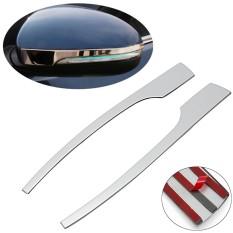 2 Pcs Mobil Side Mirror Chrome Cover Trim Molding Tinggi Rear View Cermin Stick untuk Hyundai Tucson 2016 2017- INTL