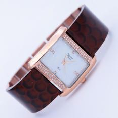 Alexandre Christie 2526 - Jam Tangan Wanita - AC 2526 - Rose Gold Brown - Acrylic - Anti Air