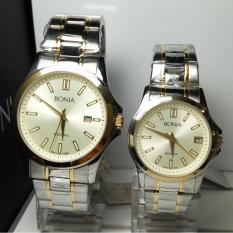 Bonia Jam Tangan Couple Bonia BNB10098 Rosso Silver Gold Stainless Steel