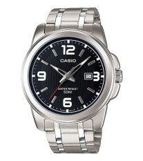 Casio Standard MTP-1314D-1AVDF - Jam Tangan Pria - Silver Black - Stainless Steel Band