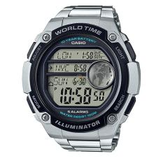 Casio Youth Digital AE-3000WD-1AV - Jam Tangan Pria - Silver Black - Strap Stainless Steel - LM
