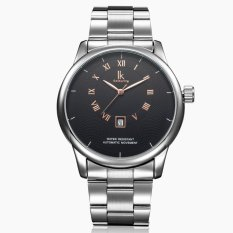 Chechang IK Apa Qi Automatic Mechanical Watch Dasar Berongga Kalender Tunggal Pria Watch Fashion Kepribadian Pria Watch 98356g (hitam) -Intl