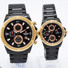 Commando 6003 Original Watch - Jam Tangan Couple - Full Stainless Steel - Chrono Mode Aktif