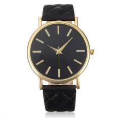 Fancytoy Wanita Klasik Casual Geneva Roman Leather Band Kuarsa Analog Jam Tangan Hitam-Internasional