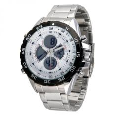 Fortuner Combo Steel WH 1103 SS- Jam tangan Pria - Silver - Stainless steel