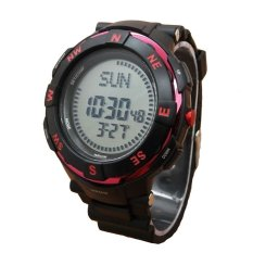 Fortuner Compas - Jam Tangan Sport Pria - Rubber Strap - Fr C831 Red