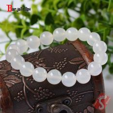 Gelang Batu Rose Quart White 0.8mm Natural Bukan Giok Putih atau Bacan Top Quality GRW-08M