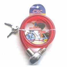 Gembok Kabel / Cable Lock / Kunci Gembok model Kabel - High Quality - Merah