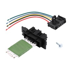 Heater Motor Blower Fan Resistor with Wiring Repair Plug Harness for Fiat Grande Punto Qubo - intl