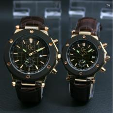 Jam tangan Couple GC - Model Casual Body Stainless steal - Analog - Chrono Detik On - Super Murmer