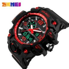 Jam Tangan Pria Jaman Now Skmei Sport Double Time Rubber 1155 - Black