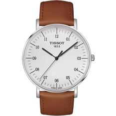 Jam Tangan Pria Tissot EVERYTIME T1096101603700 Strap Leather Brown