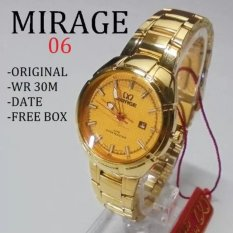 Jam Tangan Wanita Original Mirage 06 DS Original(Gold)