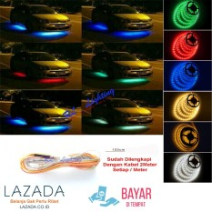 1meter LED Lampu Kolong Outdoor Mobil Waterproof - Merah
