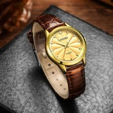 LONGBO Unik Analog QUARTZ Tahan Air Berbahan Leather Band Wrist Watch dengan Sederhana Fashion Desain Klasik, 30 M Tahan Air-80293-Intl