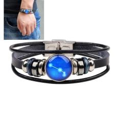 LRC Gelang Tangan Fashion Black Aries Shape Decorated Constellation Pure Color Bracelet