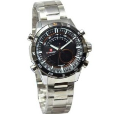 Naviforce Jam Tangah Pria - Silver- Strap Stainless Steel - NF 9033 SZ