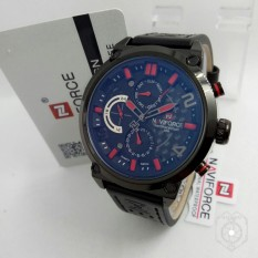 Naviforce - NF 9068 - Jam tangan Pria - Model Casual Trendy - Leather strap - Chrono On