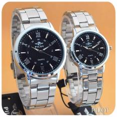Pilot - Jam Tangan Couple Pria dan Wanita - Design Formal Simple - Fiture Classic - Man & Ladies - Stainless