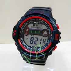 Pilot PLT2128 Original Watch - Jam Tangan Sport Pria  - Full Rubber - Digital Mode