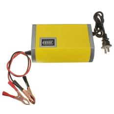 Portable Motorcrycle Car Battery Charger 6A/12V Accu Aki Motor Mobil / Baterai Charger - Kuning
