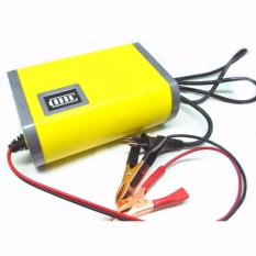 Portable Motorcycle Car Battery Charger - Charg Chasan Aki / Accu Motor / Mobil - Type II - Kuning