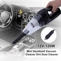 Portable Basah Kering 12 V-120 W Mini Handheld Car Vacuum Cleaner Dirt Debu Cleaner-Intl