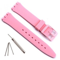 Replacement Waterproof Silicone Rubber Watch Strap Watch Band for Swatch - intl