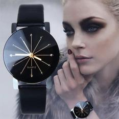 Santorini Jam Tangan Wanita Kulit PU Fashion Stainless Steel Analog Quartz Women Lady Leather Watch