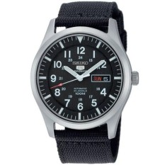 Seiko 5 Military Sports SNZG15K1 Automatic Black Dial Stainless Steel Nylon Strap