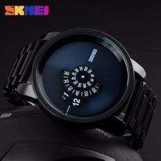 SKMEI Man Sport LED Watch Anti Air Water Resistant WR 30m AD1171 Jam Tangan Pria Strap Tali Stainless Fashion Unik Wristwatch Wrist Watch Model Baru Trendy - Hitam