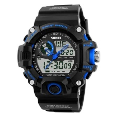 SKMEI Digital Watch Anti-shock Dual Display Dewasa Watch Tahan Air Watch Olahraga Biru-Intl