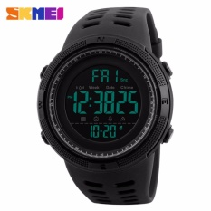 SKMEI Jam Tangan 1251 Men Sports Watches Countdown Double Time Watch Alarm Chrono Digital Wristwatches 50M Waterproof Relogio Masculino - Black