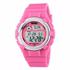 SKMEI Jam Tangan Anak Digital Children Sport Rubber LED Watch Anti Air Water Resistant WR 50m DG1161 Tali Strap Karet Lentur Alarm Wristwatch Wrist Watch for Kids Fashion Accessories Waterproof Nyaman Stylish Lucu Design Unik - Hitam