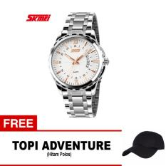 SKMEI Jam Tangan Analog Pria - 9069CS - Rose Gold + free 1x Topi Adventure