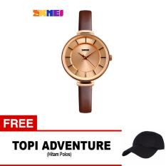 SKMEI Jam Tangan Analog Wanita - 1184CL - Black Gold + free 1x Topi Adventure