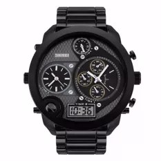 SKMEI Jam Tangan Digital Analog Jumbo Dual Time AD1170 Water Resistant Anti Air WR 30m Jam Tangan Pria Casual Sport Wrist Watch Wristwatch Unik Unique Watch- Hitam