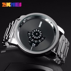 SKMEI Man Sport LED Watch Anti Air Water Resistant WR 30m AD1171 Jam Tangan Pria Strap Tali Stainless Fashion Unik Wristwatch Wrist Watch Model Baru Trendy - Silver