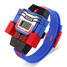 SKMEI  Merek Watch 1095 Kids LED Digital Anak Watch Kartun Olahraga Watches Relogio Relojes Robot Transformasi Mainan Boys Jam Tangan