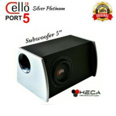 Subwoofer Box Aktif Active 5 inci 5inch Cello PORT-5 Silver Platinum Bass Detail ORIGINAL
