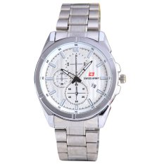 Swiss Army - Jam Tangan Pria - Body Silver - White Dial - Stainless steel  band e4ff1cc8d9