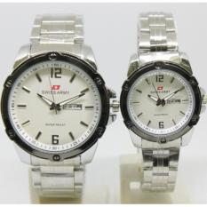 Swiss Army Sa0302 - Jam Tangan Couple Pria dan Wanita - Design Exclusive Simple Classic - Hits Perform - Trendy Formal Fashion