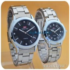 Swiss Time/Army - Jam Tangan Couple Stainless Steel -ST557844