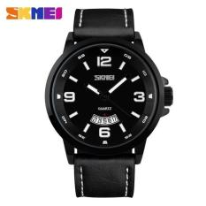 Terlaris !! Skmei Casual Men Leather Strap Watch Water Resistant 30m - 9115cl Jam Tangan Pria Laki Lelaki Cowo Cowok Unik Stylish Modis Elegan 30 M Tahan Anti Air Waterproof Kualitas Mantap