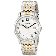 Timex Mens T2P295 Easy Reader Dress Two-Tone Stainless Steel Expansion Band Watch - intl