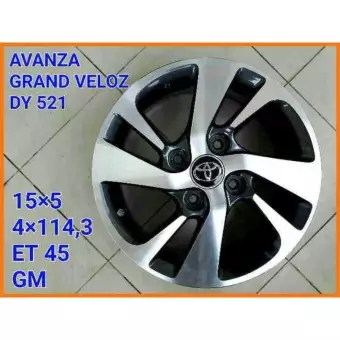 harga velg grand new avanza veloz all camry 2018 review toyota dy521 rims 15 silver 1 set 4 pcs
