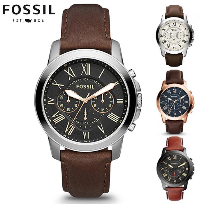 FOSSIL Jam Tangan Pria Wanita Korea Fashion Grant Chronograph Analog Quartz Men Women Leather Watch FS4813 FS5241 FS4735 FS5068