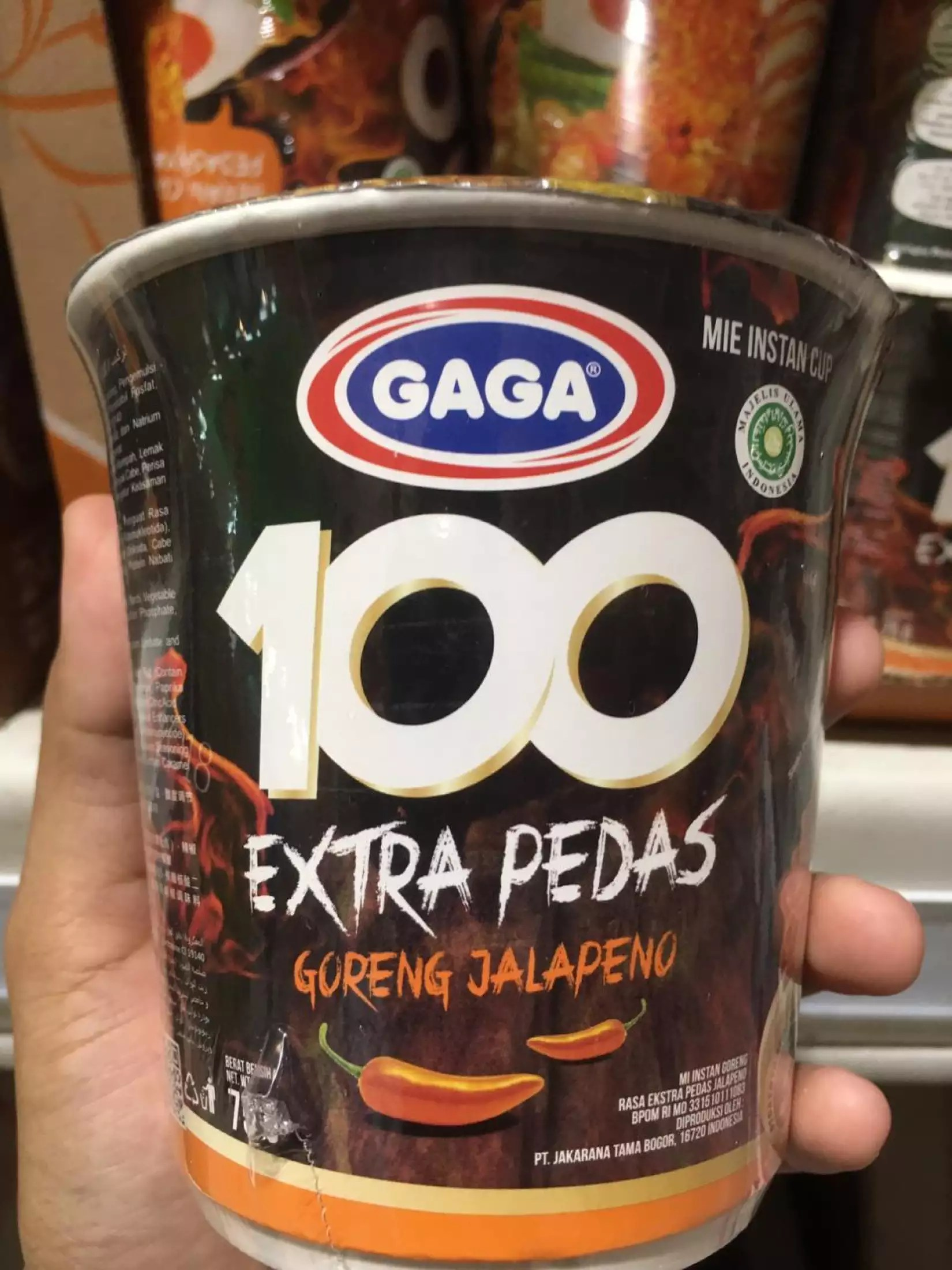 Mie Gaga 100 : Extra, Pedas, Goreng, Lazada, Indonesia