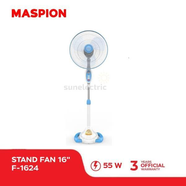 Maspion F-1624 S Stand Fan/ Kipas Angin Berdiri 3-in-1 16
